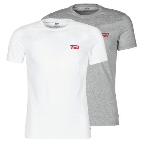 Clothing Men Short-sleeved t-shirts Levi's 2PK CREWNECK GRAPHIC White
