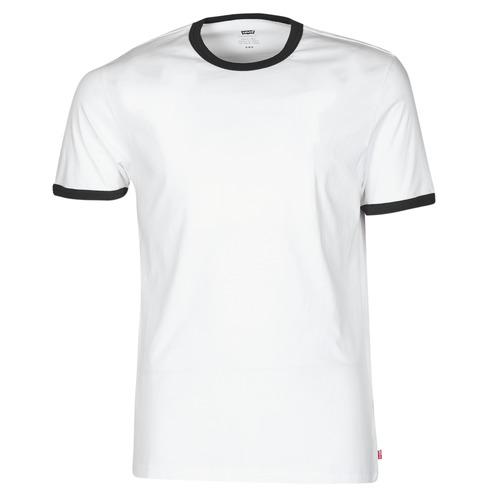 Clothing Men Short-sleeved t-shirts Levi's SS RINGER TEE White
