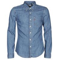 Clothing Men Long-sleeved shirts Levi's SUNSET 1 PKT SLIM Blue