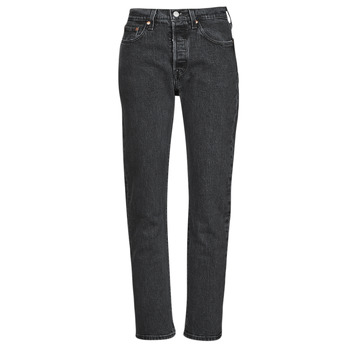 Clothing Women Boyfriend jeans Levi's 501 CROP Black