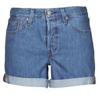 Clothing Women Shorts / Bermudas Levi's 501 ROLLED SHORT Blue