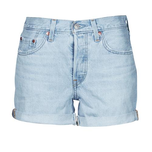 Clothing Women Shorts / Bermudas Levi's 501 ROLLED SHORT Blue