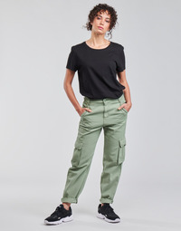 Clothing Women Cargo trousers Levi's LOOSE CARGO Grey / Green