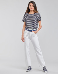 Clothing Women Straight jeans Levi's RIBCAGE STRAIGHT ANKLE White
