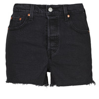 Clothing Women Shorts / Bermudas Levi's RIBCAGE SHORT Black