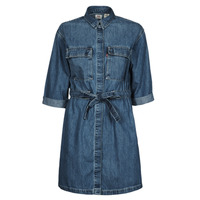 Clothing Women Short Dresses Levi's AINSLEY UTILITY DENIM D Blue