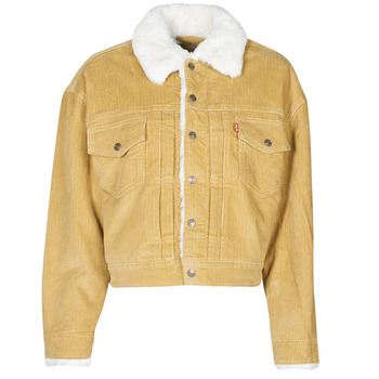 Clothing Women Denim jackets Levi's NEW HERITAGE CORD TRUCKR Beige