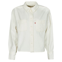 Clothing Women Shirts Levi's ZOEY PLEAT UTILITY SHIRT White