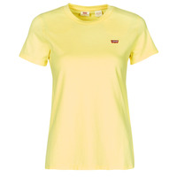 Clothing Women Short-sleeved t-shirts Levi's PERFECT TEE Yellow