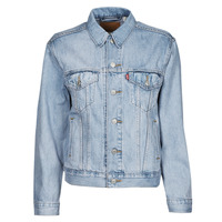 Clothing Women Denim jackets Levi's EX BOYFRIEND TRUCKER Wheat