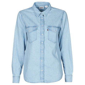 Clothing Women Shirts Levi's ESSENTIAL WESTERN Blue