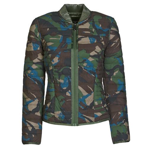 Clothing Women Duffel coats Guess ICONIC CAMOU Kaki / Brown