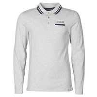 Clothing Men Long-sleeved polo shirts Guess LIVE IS POLO Grey