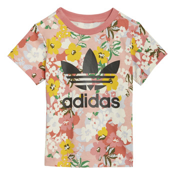 Clothing Girl Short-sleeved t-shirts adidas Originals DREZZI Multicolour