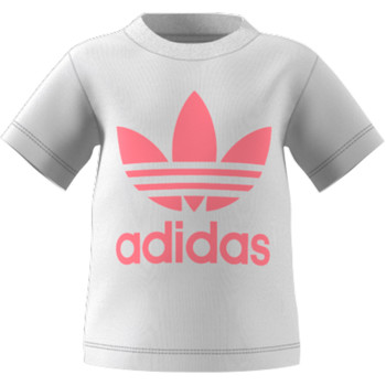 Clothing Children Short-sleeved t-shirts adidas Originals GN8175 White