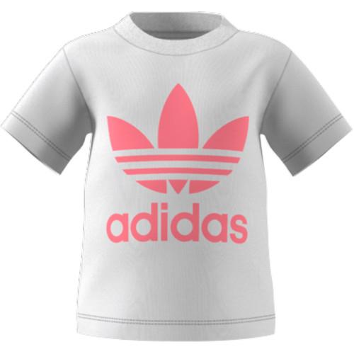 Clothing Children Short-sleeved t-shirts adidas Originals GN8175 White