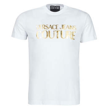 Clothing Men Short-sleeved t-shirts Versace Jeans Couture TIKI White / Gold
