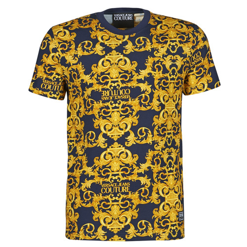 Clothing Men Short-sleeved t-shirts Versace Jeans Couture TIKI Blue / Gold