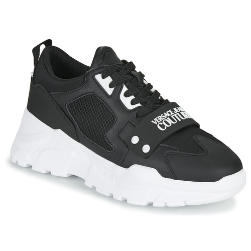 Shoes Men Low top trainers Versace Jeans Couture THANNA Black
