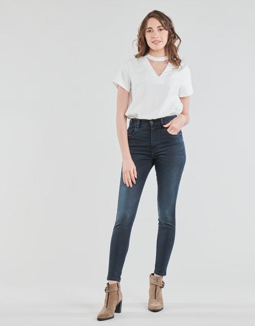Clothing Women Skinny jeans Diesel D-SLANDY-HIGH Blue