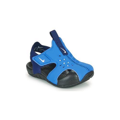 Shoes Boy Sliders Nike SUNRAY PROTECT 2 TD Blue