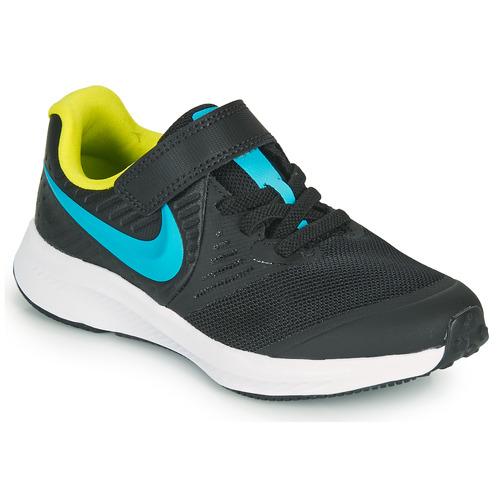 Shoes Boy Multisport shoes Nike STAR RUNNER 2 PS Black / Blue
