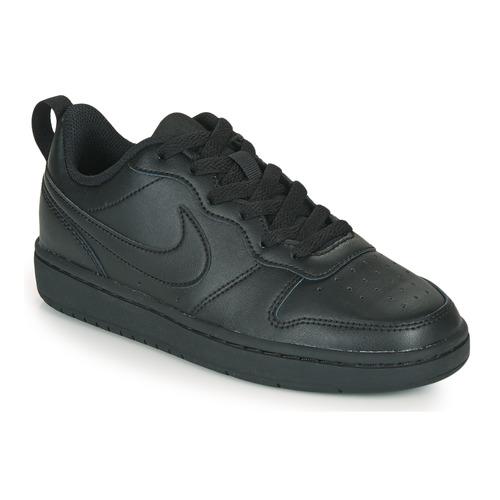Shoes Children Low top trainers Nike COURT BOROUGH LOW 2 GS Black