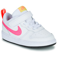 Shoes Girl Low top trainers Nike COURT BOROUGH LOW 2 TD White / Pink