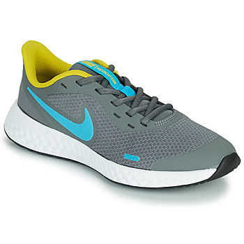 Shoes Boy Multisport shoes Nike REVOLUTION 5 GS Grey / Blue