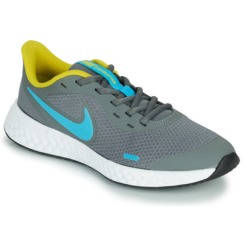 Shoes Boy Multisport shoes Nike REVOLUTION 5 GS Grey / Blue