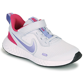 Shoes Girl Multisport shoes Nike REVOLUTION 5 PS Blue / Purple