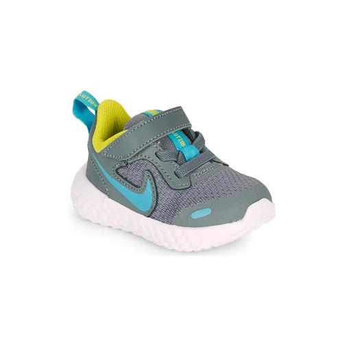 Shoes Boy Multisport shoes Nike REVOLUTION 5 TD Grey / Blue