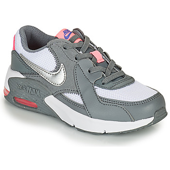 Shoes Girl Low top trainers Nike AIR MAX EXCEE PS Grey / White