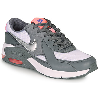 Shoes Girl Low top trainers Nike AIR MAX EXCEE GS Grey / Pink