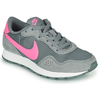 Shoes Girl Low top trainers Nike MD VALIANT GS Grey / Pink