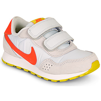 Shoes Girl Low top trainers Nike MD VALIANT PS Beige / Red