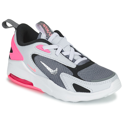 Shoes Girl Low top trainers Nike AIR MAX BOLT PS Grey / White / Pink