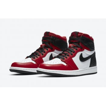 Shoes Low top trainers Nike Air Jordan 1 High WMNS Satin Snake Gym Red/White-Black