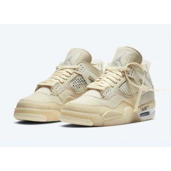 Shoes Hi top trainers Nike Air Jordan 4 Sail x Off White  Sail/White/Black/Muslin