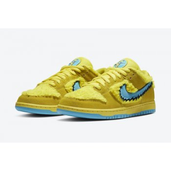 Shoes Low top trainers Nike SB Dunk Low x Grateful Dead Yellow Opti Yellow/Blue Fury