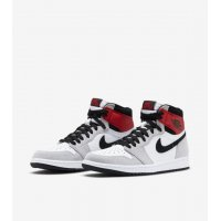 Shoes Low top trainers Nike Air Jordan 1 Light Smoke Grey White/Black-Light Smoke Grey-Varsity Red