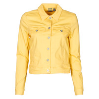 Clothing Women Denim jackets Vero Moda VMHOTSOYA Yellow