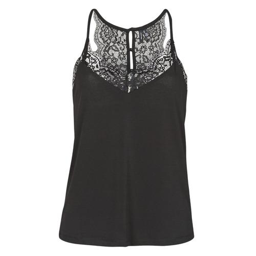 Clothing Women Tops / Sleeveless T-shirts Vero Moda VMANA Black