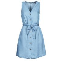 Clothing Women Short Dresses Vero Moda VMVIVIANA Blue / Clear