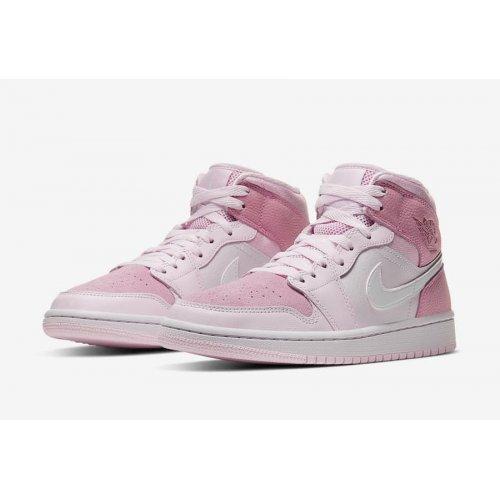 "Shoes Low top trainers Nike Air Jordan 1 Mid WMNS ""Digital Pink""  Digital Pink/White-Pink Foam-Sail"