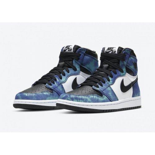 Shoes Hi top trainers Nike Air Jordan 1 High Tie-dye White/Black-Aurora Green