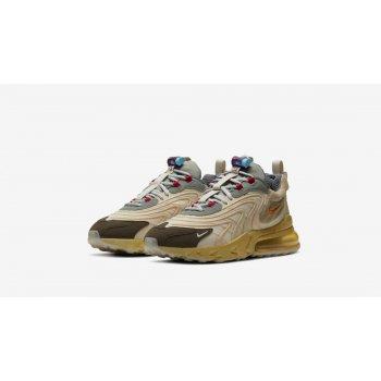 Shoes Low top trainers Nike Air Max 270 React x Travis Scott Light Cream/Dark Hazel-Mica Style