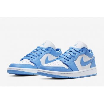 Shoes Low top trainers Nike Air Jordan 1 Low Univeristy Blue University Blue/White