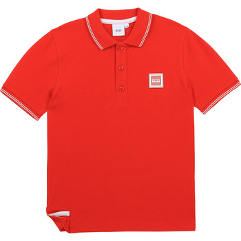 Clothing Boy Short-sleeved polo shirts BOSS BARBORA Red