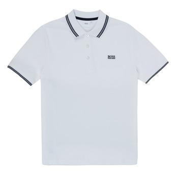 Clothing Boy Short-sleeved polo shirts BOSS TONNELA White